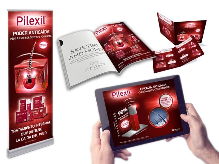 publicidadpharma_pilexil_publicidaddermatologia_ayudavisual_marketingfarmaceutico_folletos_rollup